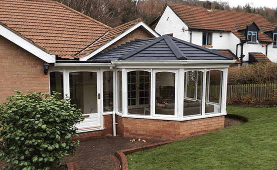A conservatory on a domestic property