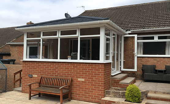 An orangery extension on a modern property.