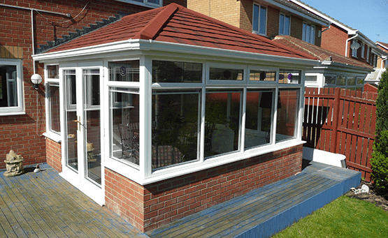 A conservatory with a SupaLite roof